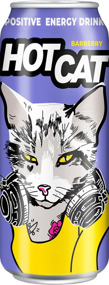 Напиток энергетический Hot Cat Barberry 450мл
