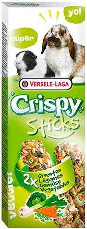 Лакомство для грызунов Versele-laga Crispy палочки для кроликов и морских свинок с овощами 2шт*55г (упаковка 6 шт.)