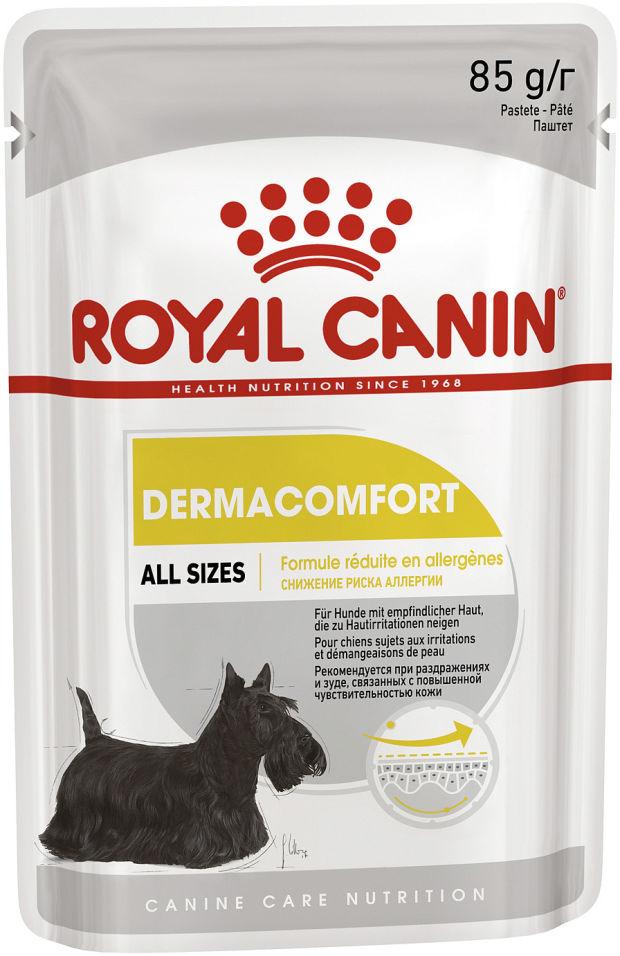 Корм для собак Royal Canin Dermacomfort для собак с повышенной чувствительной кожей 85г (упаковка 12 шт.)