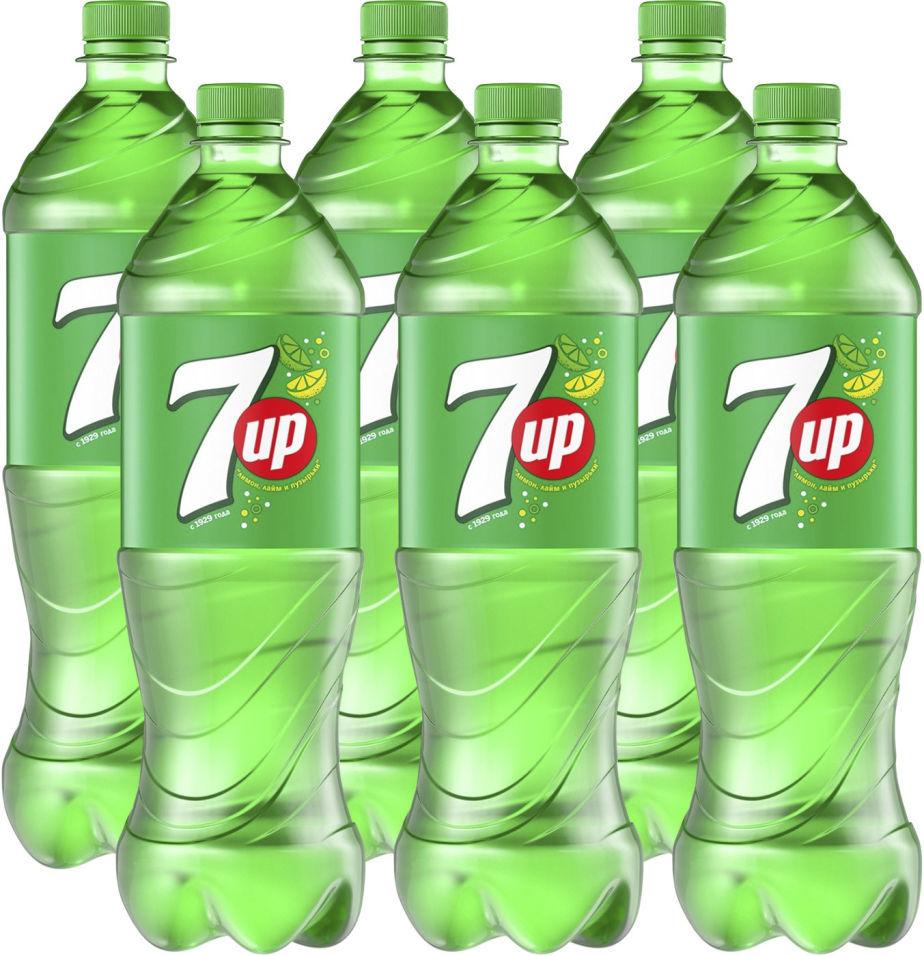 Напиток 7UP Лимон-лайм 1л (упаковка 6 шт.)