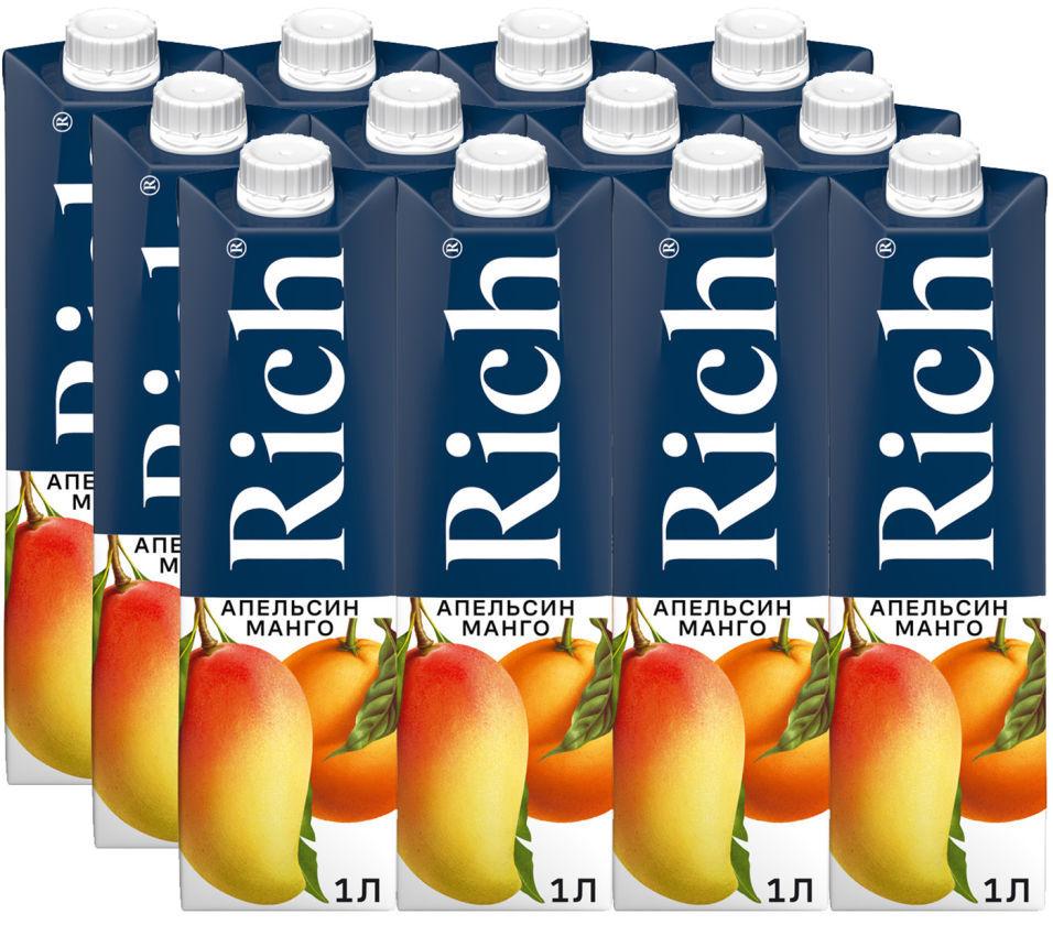 Нектар Rich Апельсин Манго 1л (упаковка 6 шт.)