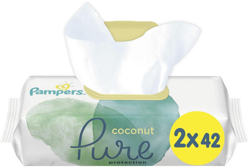 Салфетки влажные Pampers Pure Coconut детские 84шт (упаковка 3 шт.)