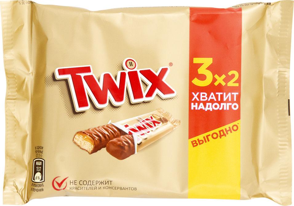 Печенье сахарное Twix с карамелью и шоколадом 165г