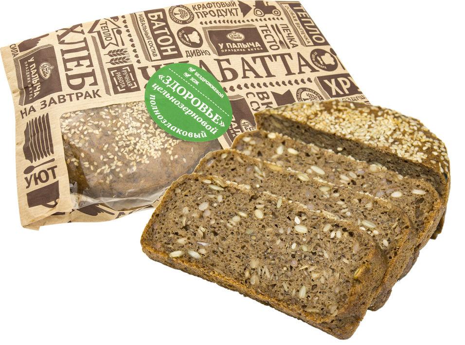 Хлеб У Палыча Здоровье цельнозерновой полнозлаковый без дрожжей 450г