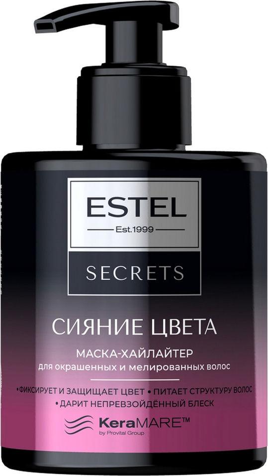Маска-хайлайтерEstel Secrets Сияниецвета дляокрашенныхимелированныхволос 275мл