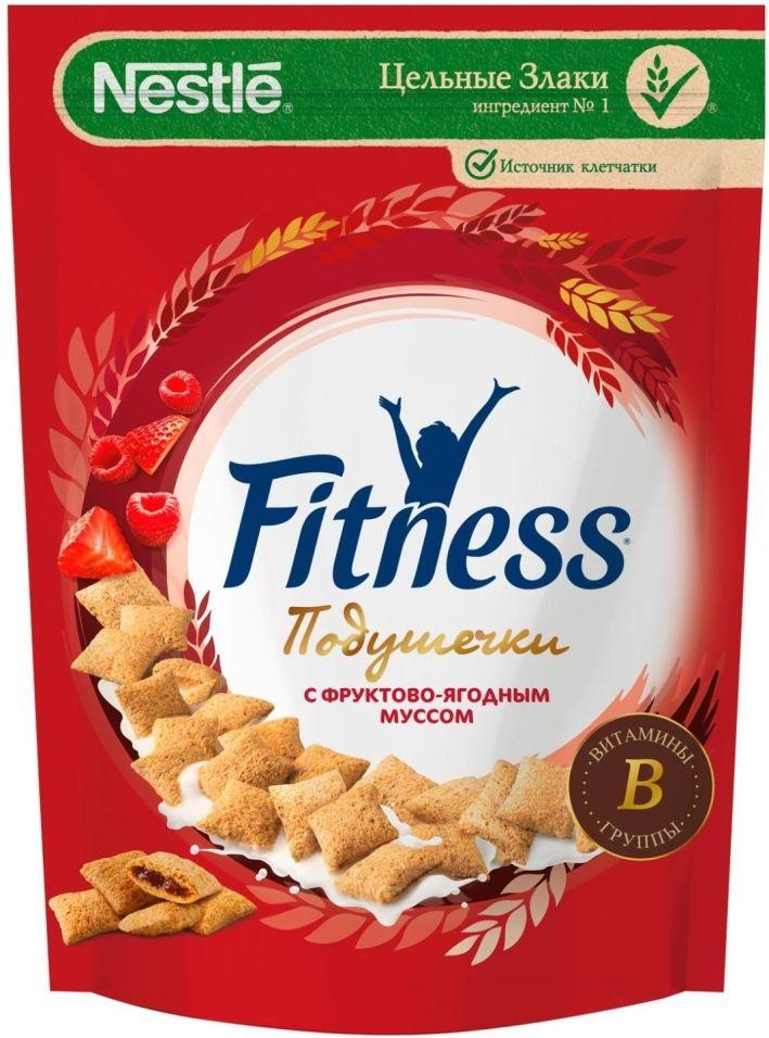 Подушечки Fitness Мультизлаковые с фруктово-ягодным муссом 180г