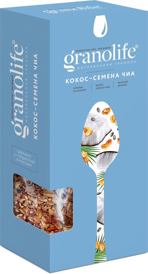 Гранола Granolife Кокос-Семена чиа 400г