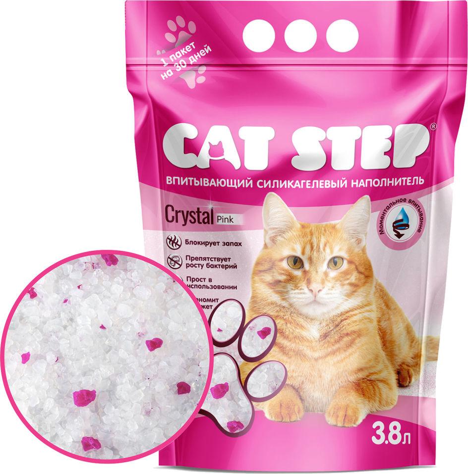 Наполнитель для кошачьего туалета Cat Step Crystal Pink 3.8л