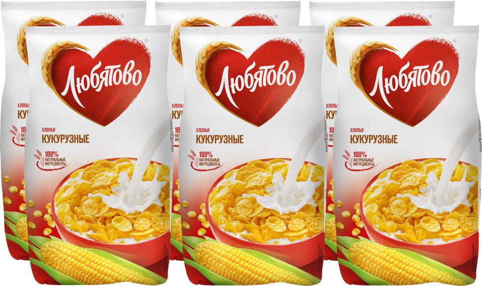 Хлопья Любятово Кукурузные 300г (упаковка 2 шт.)