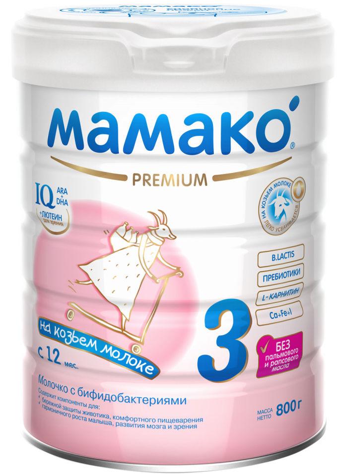 Смесь Мамако 3 Premium Молочная на основе козьего молока с 12 месяцев 800г (упаковка 2 шт.)