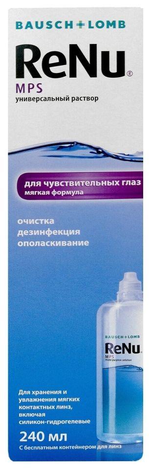 Раствор для контактных линз ReNu MPS 240мл