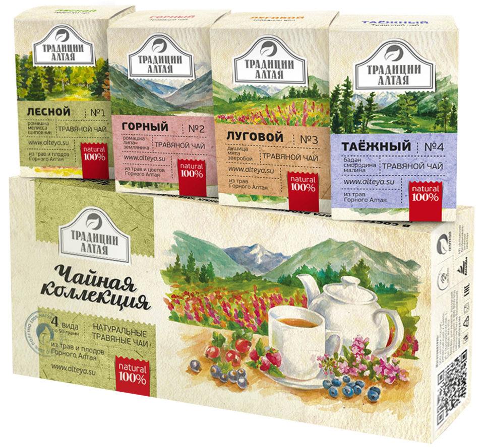 Набор подарочный Алтэя Чайная коллекция 4шт*50г