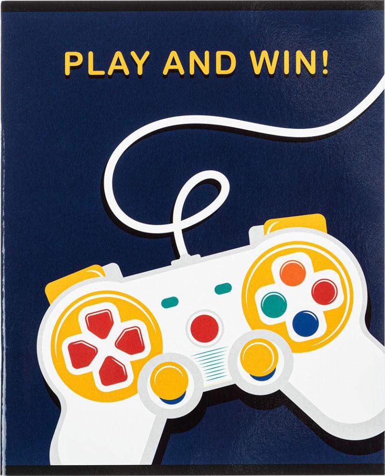Тетрадь общая №1 School Play&Win A5 клетка 48л