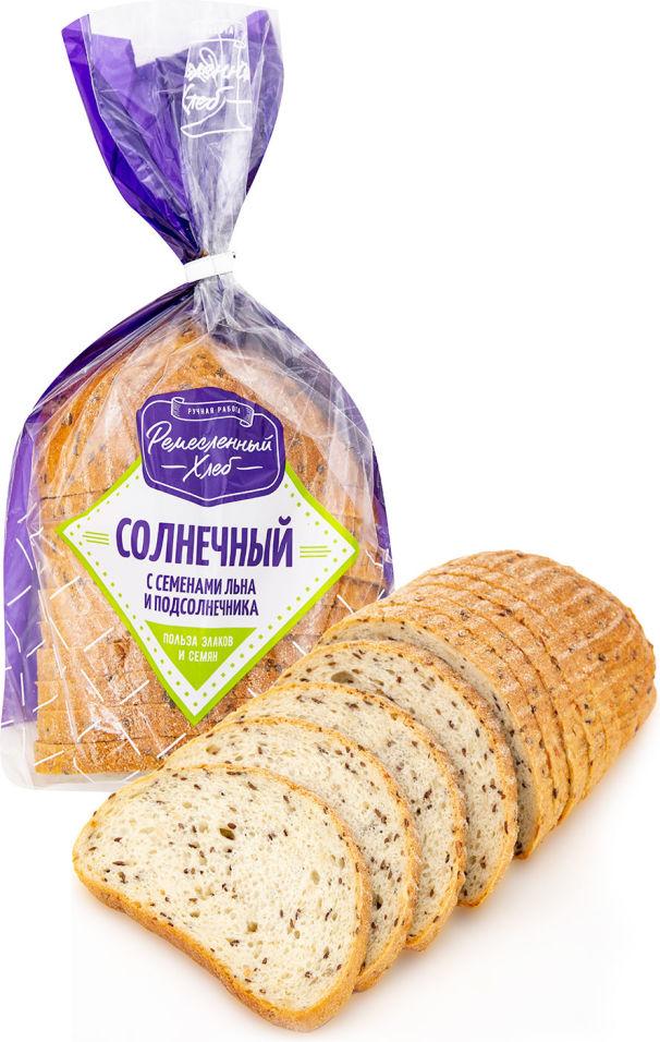 Хлеб Солнечный Ремесленный хлеб с семенами льна и подсолнечника 350г
