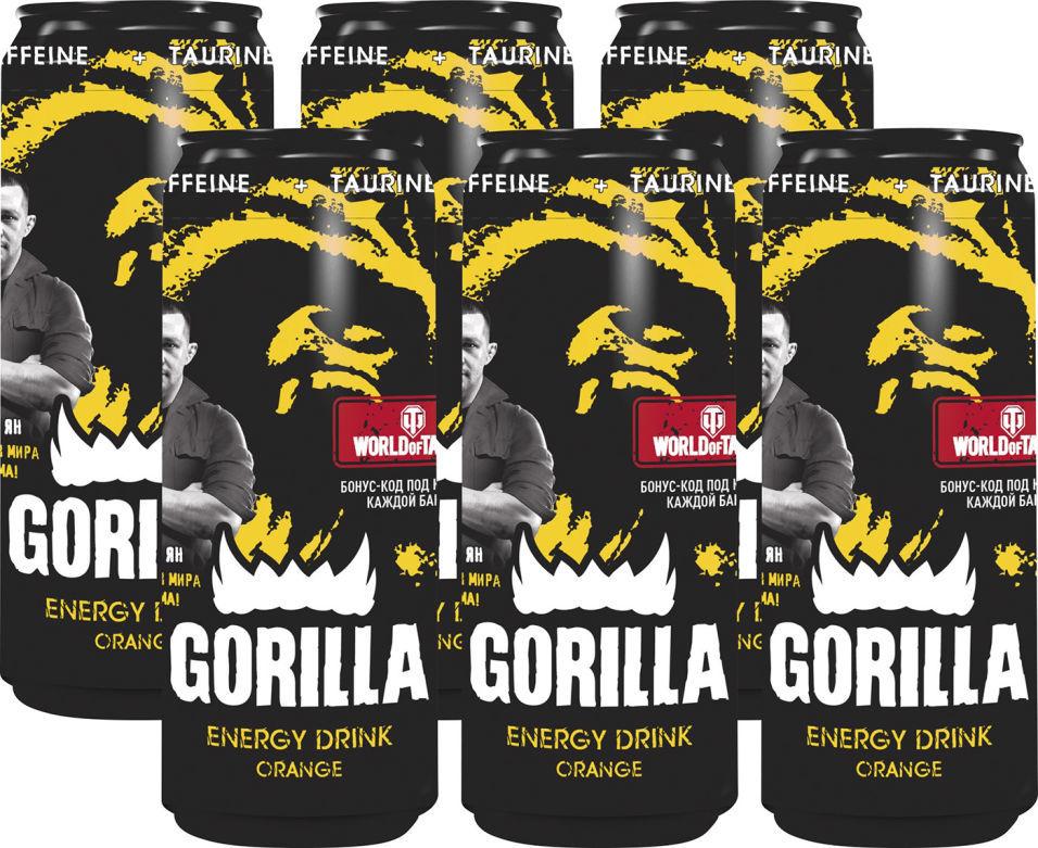 Напиток Gorilla Апельсин энергетический 400мл (упаковка 6 шт.)