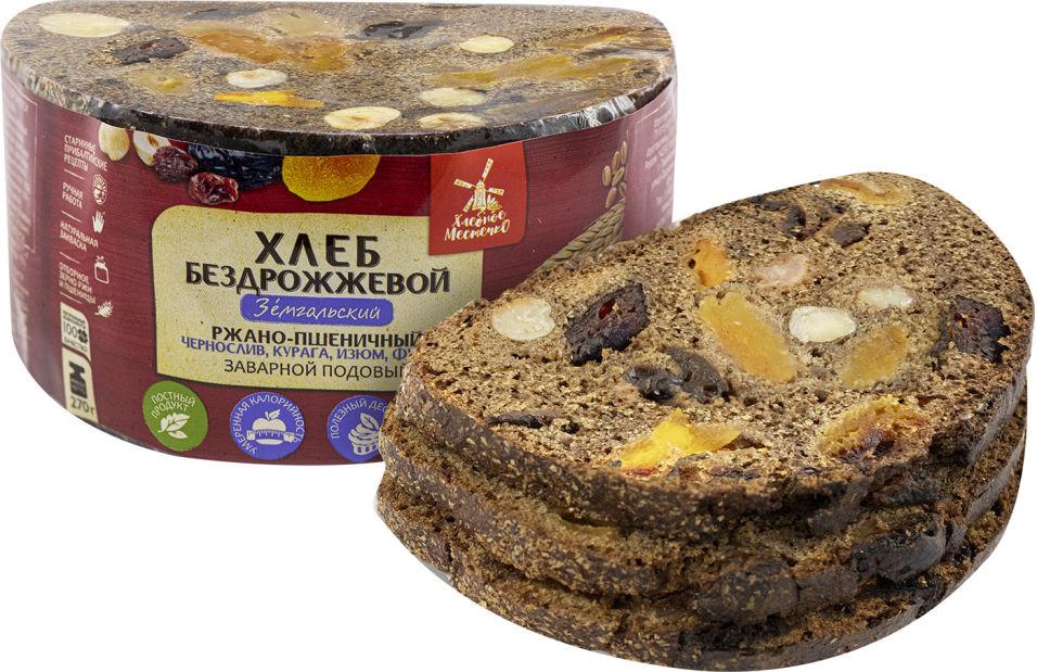 Хлеб Хлебное местечко Земгальский ржано-пшеничный с  черносливом курагой изюмом и фундуком нарезка 270г