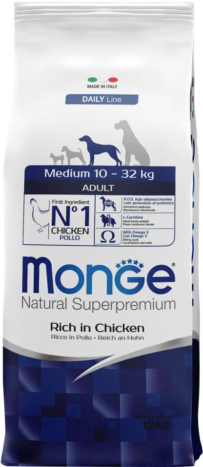 Отзывы о Корме для собак Monge Dog Medium для средних пород 12кг