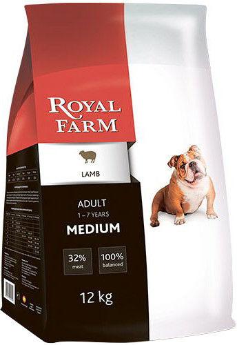 Сухой корм для собак Royal Farm Ягненок для средних пород 12кг