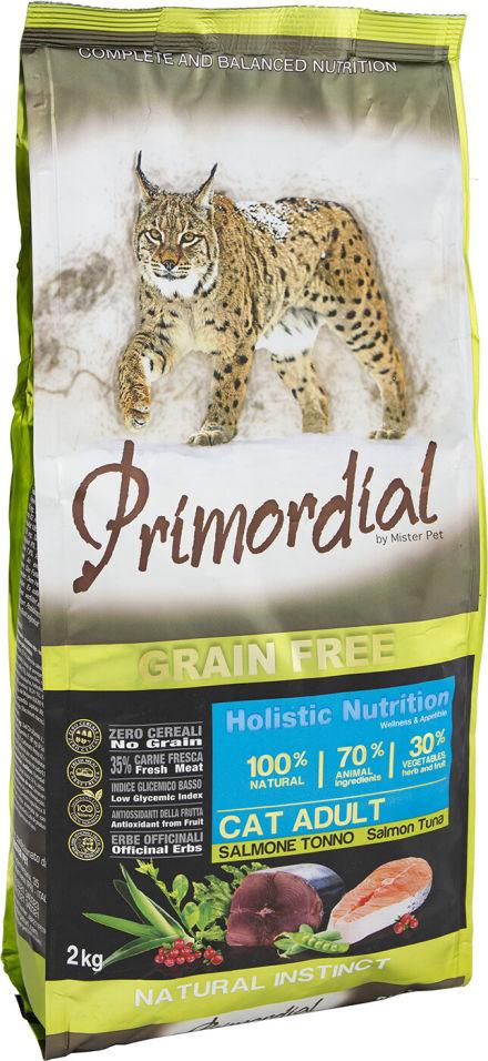 Сухой корм для кошек Primordial Лосось и Тунец 2кг
