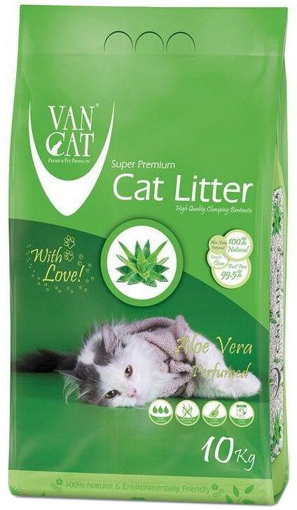 Наполнитель для кошачьего туалета Van Cat Aloe Vera с ароматом алоэ вера 10кг