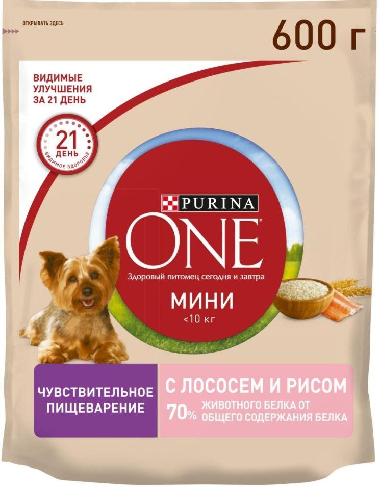 Отзывы о Сухом корме для собак Purina One для чувствительной кожи с лососем и рисом 600г