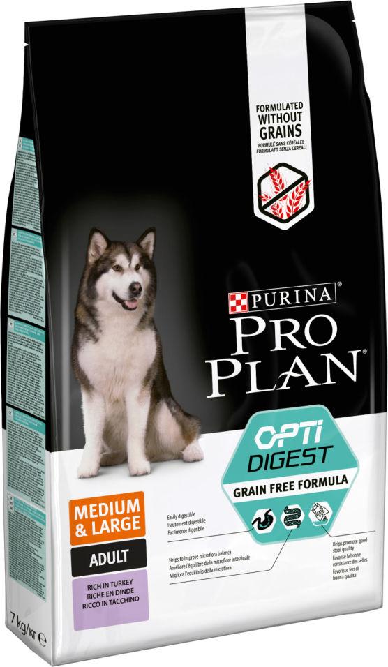 Сухой корм для собак Pro Plan Optidigest Medium&Large Adult Grain Free Formula с индейкой 7кг