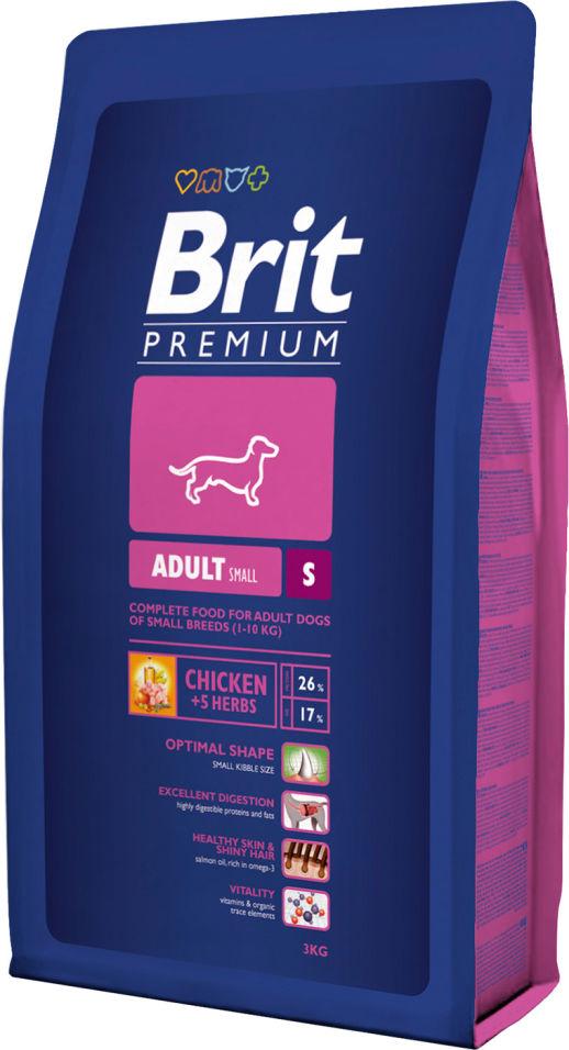 Сухой корм для собак Brit Premium Adult S Курица 3кг