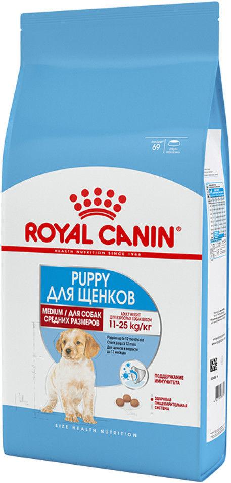 Сухой корм для щенков Royal Canin Size Medium Junior 3кг