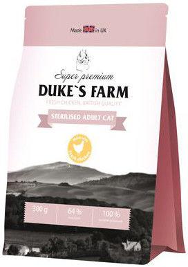 Сухой корм для кошек Dukes Farm Sterilised Курица 300г