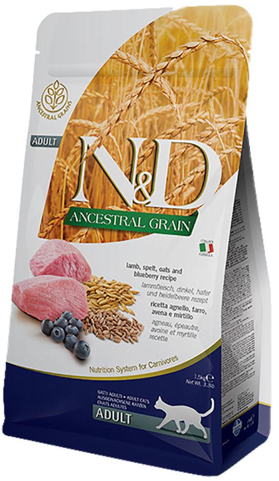 Корм для кошек Farmina N&D Low Grain Adult Ягненок с черникой 1.5кг