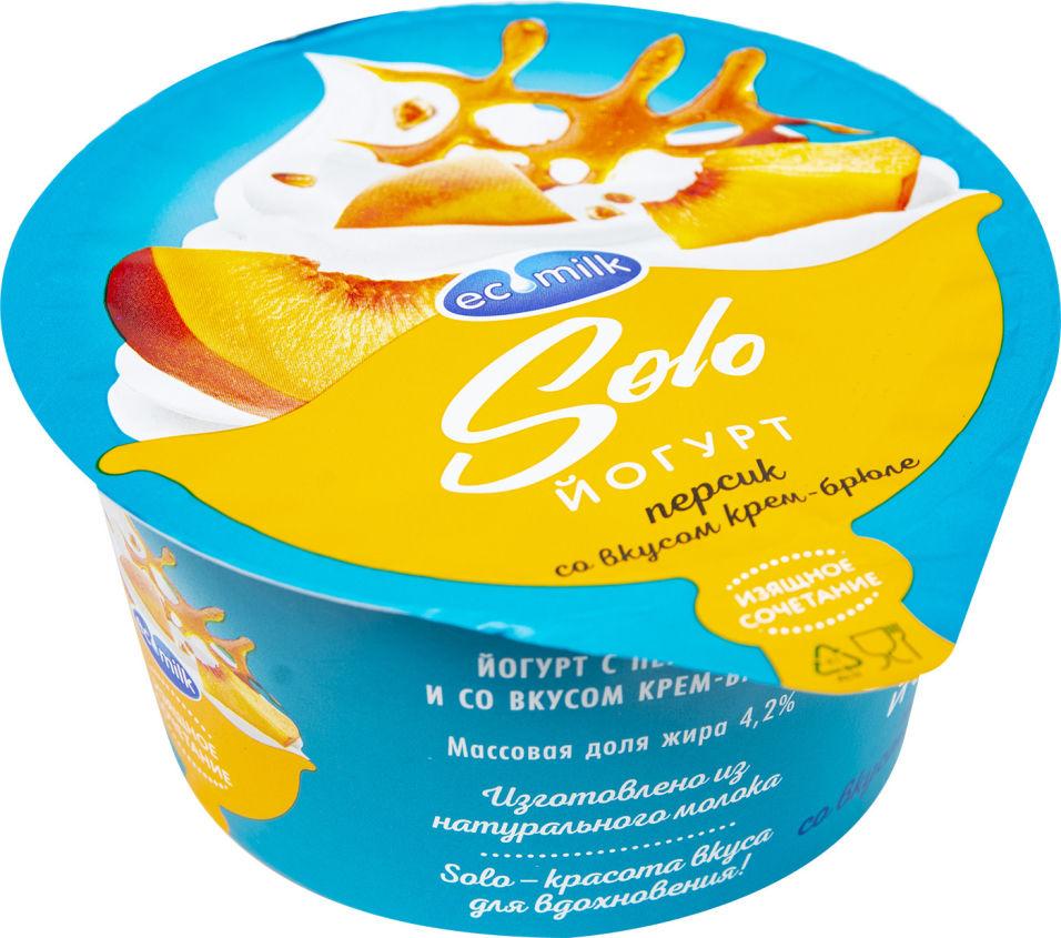Отзывы о Йогурте Экомилк с персиком и со вкусом крем-брюле 4.2% 130г