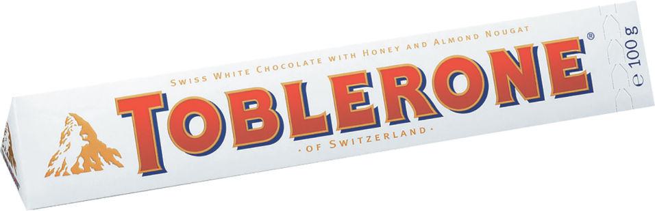 Шоколад Toblerone Белый с медово-миндальной нугой 100г