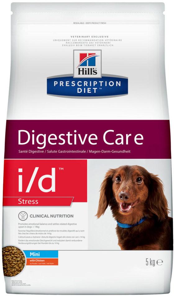 Сухой корм для собак Hills PD i/d Stress Mini для мелких пород при расстройствах пищеварения вызванных стрессом с курицей 5кг