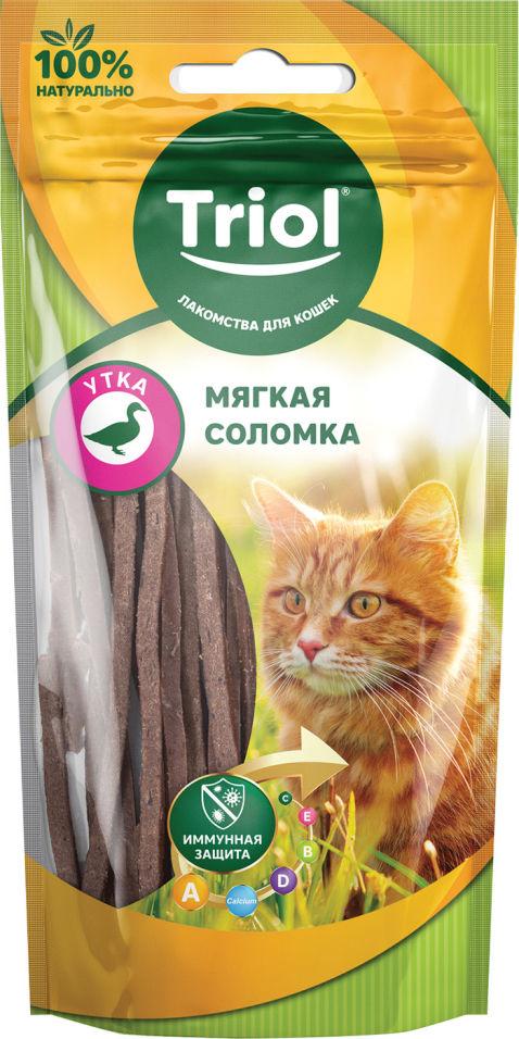 Лакомство для кошек Triol Мягкая соломка из утки 40г