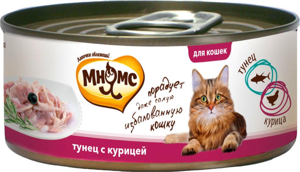 Корм для кошек Мнямс Тунец с курицей в нежном желе 70г