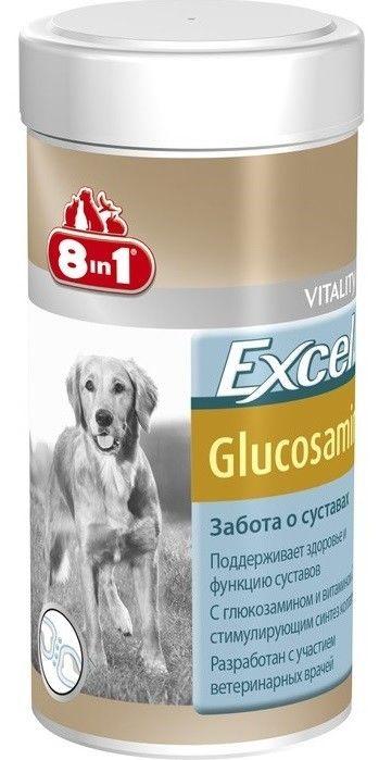 Витамины для собак 8 in 1 Excel Глюкозамин 55 таблеток