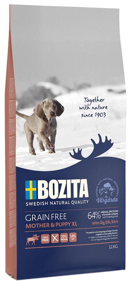 Сухой корм для щенков Bozita Grain Free Mother&Puppy XL с мясом лося 12кг