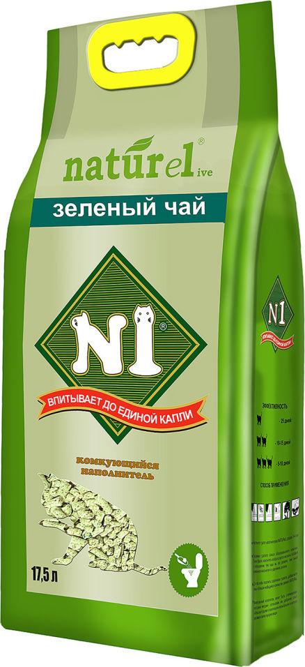 Наполнитель для кошачьего туалета №1 Naturel Зеленый чай 17.5л