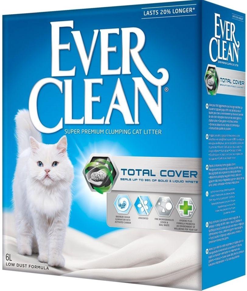 Наполнитель для кошачьего туалета Ever Clean Total Cover с микрогранулами двойного действия 6л