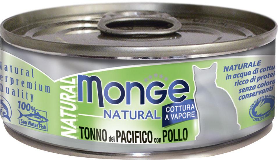 Отзывы о Корме для кошек Monge Cat Natural Тихоокеанский тунец с курицей 80г
