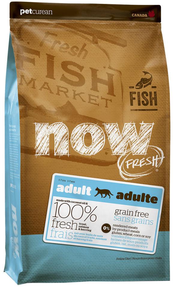 Сухой корм для кошек Now Fresh Adult При чувствительном пищеварении беззерновой с форелью и лососем 1.81кг