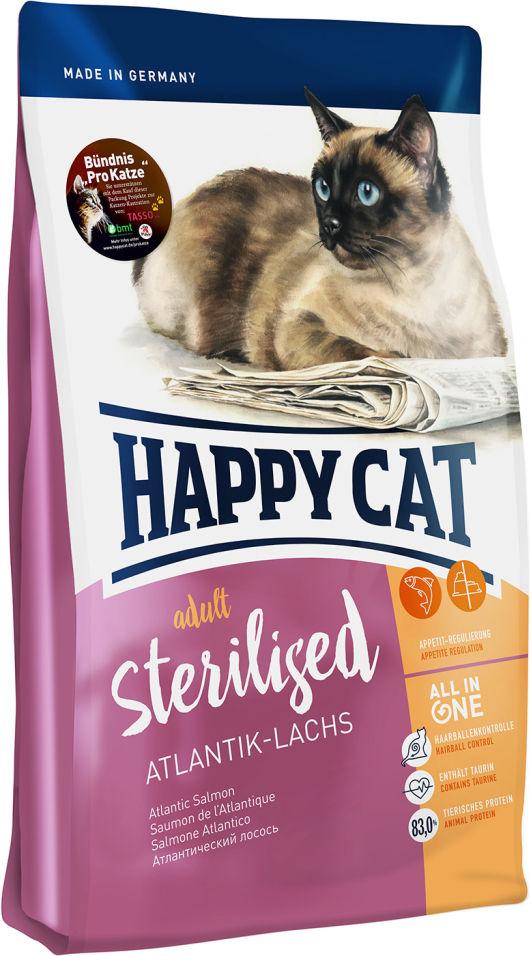 Сухой корм для взрослых кошек Happy Cat Для стерелизованных лосось 0.3кг