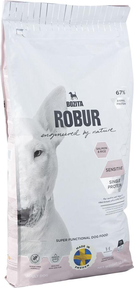 Сухой корм для собак Bozita Robur Sensitive Single Protein с лососем и рисом 12.5кг