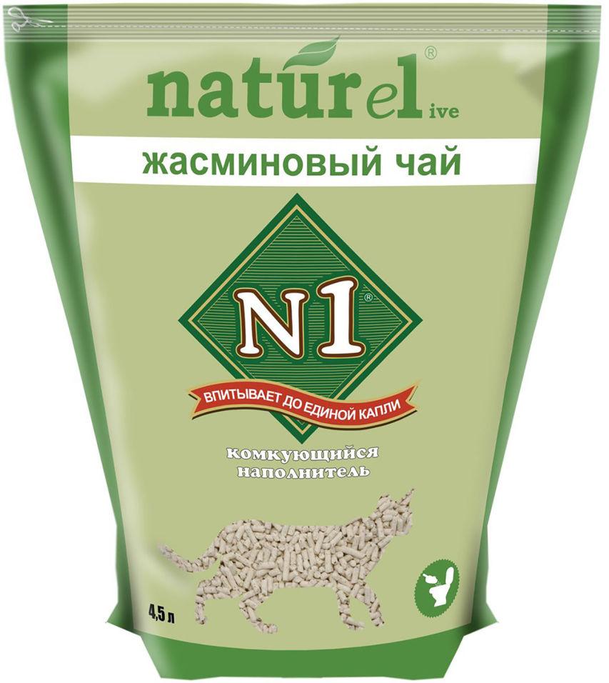 Наполнитель для кошачьего туалета №1 Naturel жасминовый чай 4.5л