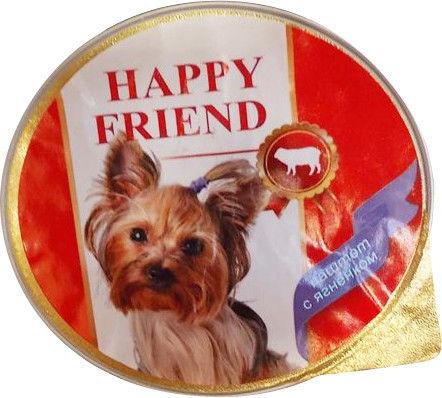 Корм для собак Happy Friend Паштет с ягненком 125г