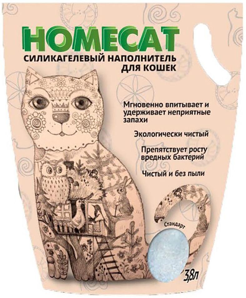 Наполнитель для кошачьего туалета Homecat Без запаха 3.8л