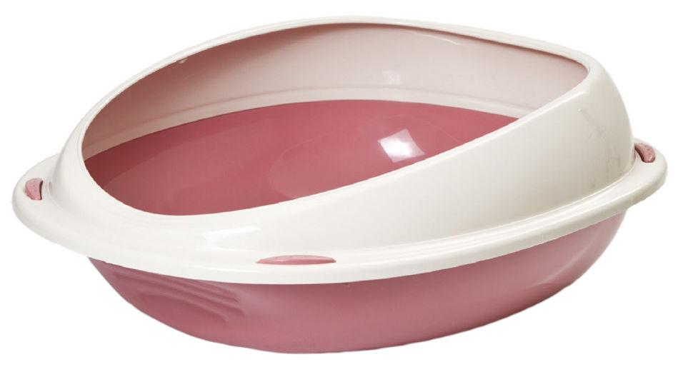 Отзывы о Туалете для кошек Lilli Pet 45*36*15.5см розовый