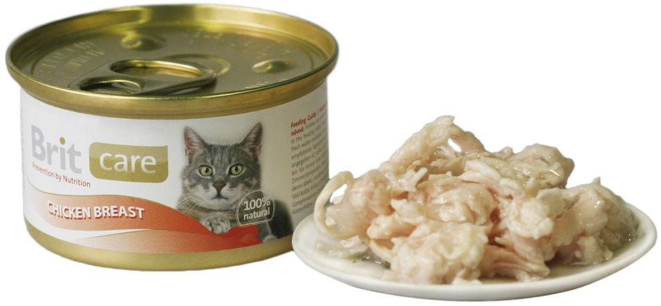 Консервы для кошек Brit care с куриной грудкой 80г