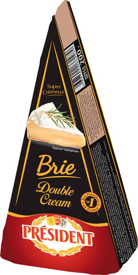 Отзывы о Сыре President Brie Double Cream с белой плесенью 73% 200г