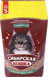 Наполнитель для кошачьего туалета Сибирская кошка Универсал впитывающий 5л